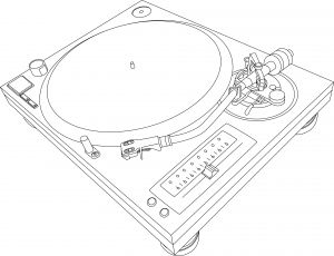 technics 1210 illustration