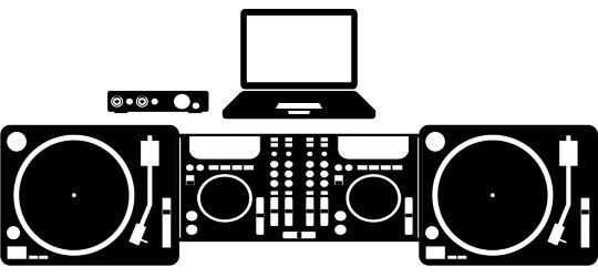 dj controller turntable combo setup