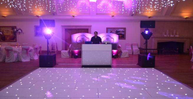 wedding dj playing to empty floor